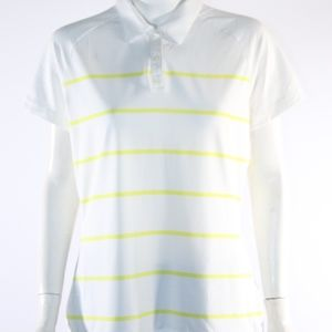 Nike Golf Dri Fit Women's Large Yellow/White Top